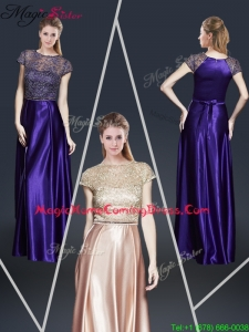 Empire Bateau 2016 Homecoming Dresses with Appliques and Belt