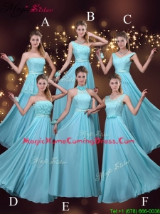 2016 Cheap Empire Aqua Blue Homecoming Dresses