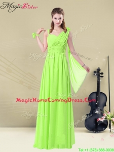 Elegant Floor Length Straps Belt Homecoming Dresses for Summer