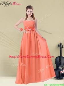 Inexpensive Empire Sweetheart Homecoming Dresses with Ruching and Belt for Fall