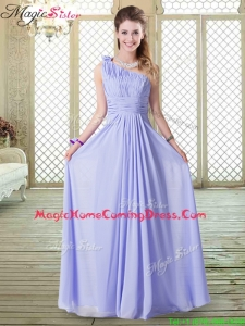 Lovely Empire One Shoulder Homecoming Dresses in Lavender