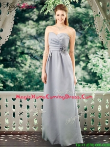 Romantic Empire Sweetheart Homecoming Dresses with Hand Made Flowers