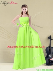 Summer Classical Floor Length Sweetheart Ruching Homecoming Dresses
