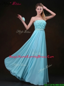 Beautiful Empire Strapless Homecoming Dresses with Appliques