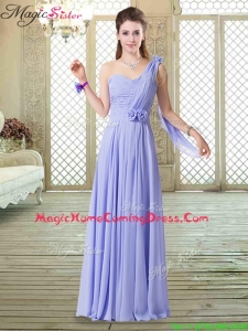 Beautiful One Shoulder Floor Length Homecoming Dresses for Spring