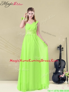 Gorgeous Floor Length Straps Ruching Homecoming Dresses for Summer