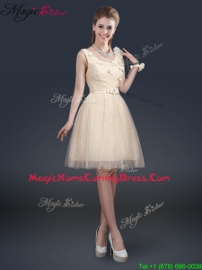 Lovely Scoop Homecoming Dresses with Appliques and Belt