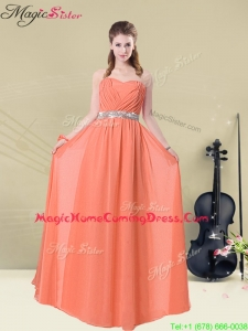 Pretty Empire Sweetheart Homecoming Dresses with Ruching and Belt