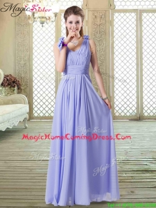 Romantic Empire Straps Homecoming Dresses in Lavender