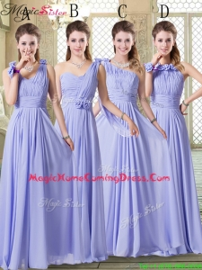 Beautiful Empire Floor Length Homecoming Dresses in Lavender