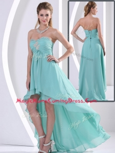 Low Price Sweetheart High Low Homecoming Dress with Beading