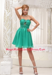 Perfect Sweetheart Beading Short Homecoming Dress for 2016