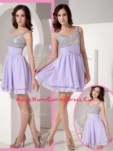 Pretty Sweetheart Beading Lavender Short Homecoming Dress