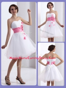 Lovely A Line Sweetheart Homecoming Dresses with Hand Made Flowers
