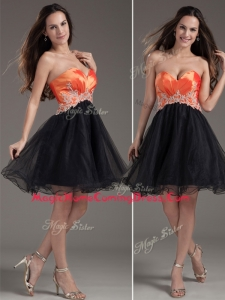 Low Price Princess Sweetheart Homecoming Dress with Appliques