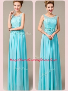 Fashionable Empire Scoop Homecoming Dresses with Appliques and Lace