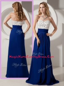 Most Popular Empire Brush Train Beading Homecoming Dresses for Evening
