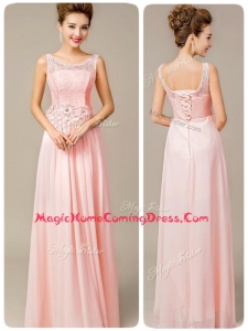 Beautiful Scoop Empire Homecoming Dresses with Appliques and Lace