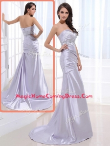 Luxurious Column Sweetheart Homecoming Dresses with Beading and Ruching