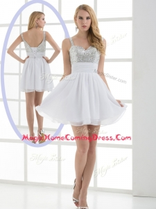 Fashionable Straps Sequins Short Homecoming Dress for Graduation