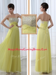 Low Price Sweetheart Floor Length Beading Homecoming Dress for Graduation