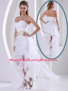 New Arrivals Sweetheart Asymmetrical Beading Homecoming Dresses with Cocktail