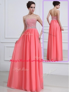 Beautiful Sweetheart Watermelon Homecoming Dresses with Beading