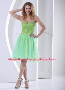 Lovely Sweetheart Beading Short Homecoming Dresses for Party