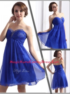 Perfect Sweetheart Beading Short Homecoming Dresses in Blue