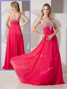 Brand New Style Spaghetti Straps Homecoming Dresses with Beading