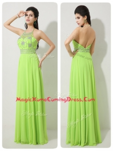 Classical Halter Top Beading Homecoming Dresses for 2016