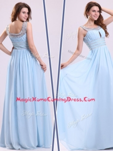 Elegant Empire Straps Sweetheart Homecoming Dresses with Beading