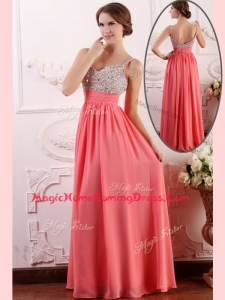 Most Popular Empire Straps Watermelon Homecoming Dress for Celebrity