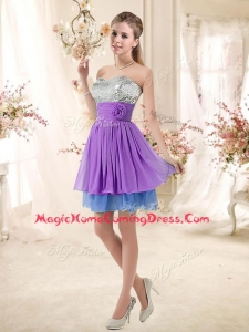 2016 Top Selling Sweetheart Short Sequins Homecoming Dresses in Multi Color