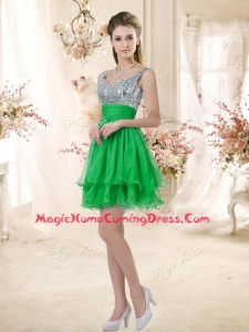 Casua Short Straps Homecoming Dresses with Sequins for Fall
