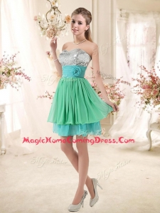 Casual Homecoming Dresses with Sequins and Belt