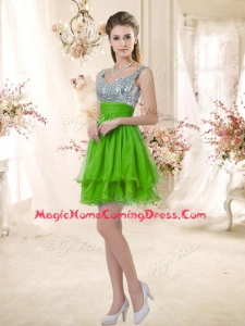 Casual Straps Short Homecoming Dresses with Sequins for Fall