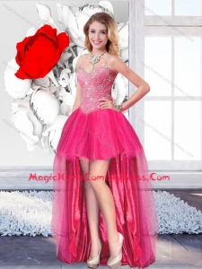 High Low Informal Homecoming Dresses with Straps for 2016