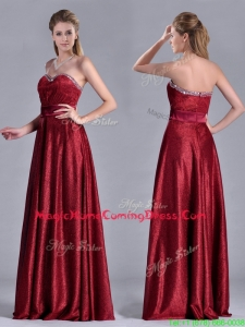 Classical Empire Sweetheart Wine Red Homecoming Dress with Beaded Top