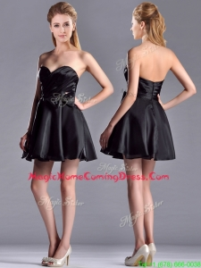 Exquisite Bowknot Organza Short Homecoming Dress with Zipper Up