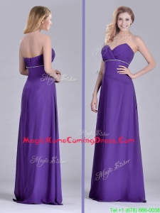 Column Sweetheart Ruching Purple Homecoming Dress for Celebrity