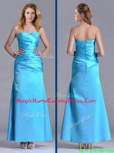 New Arrivals Sweetheart Aqua Blue Ankle Length Homecoming Dress in Taffeta