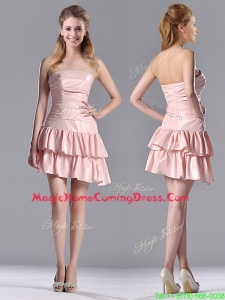 Low Price Ruffled Layers Short Homecoming Dress in Asymmetrical