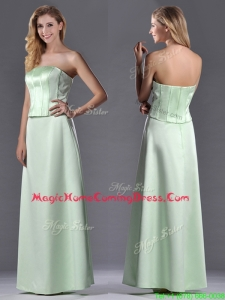 Discount Column Ruching Satin Homecoming Dress with Strapless