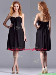 Empire Sweetheart Knee-length Short Black Homecoming Dress for Homecoming