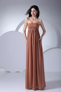 Strapless Empire Floor-Length Celebrity Homecoming Dress with Beading in Atlanta