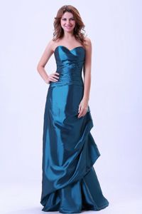 Dark Teal Sweetheart Floor-Length Column Celebrity Homecoming Dress in Arizona