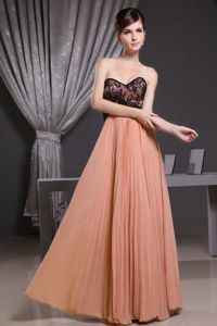 Pleated Rust Red Long Homecoming Dress with Lace on Bodice in USA