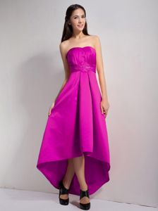 Fast Shipping High-low Fuchsia Junior Homecoming Dresses for Clearance