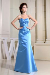 Elegant Sweetheart Baby Blue Long Homecoming Dress in Wabash USA